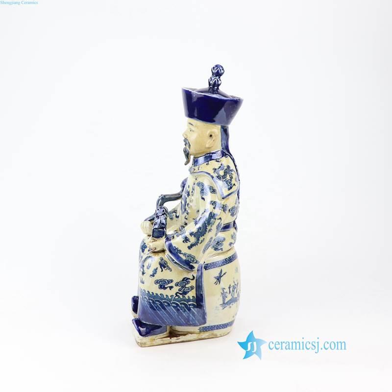 RZKC19 Blue and white old finish Qing dynasty Kangxi Yongzhen Qianlong emperors ceramic figurines