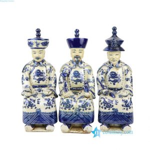 RZKC19 Blue and white old finish Qing dynasty Kangxi Yongzhen Qianlong emperors ceramic figurines
