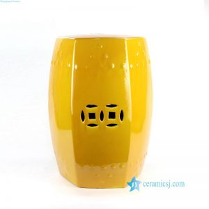 RZKL20 Jingdezhen style mustard porcelain seat