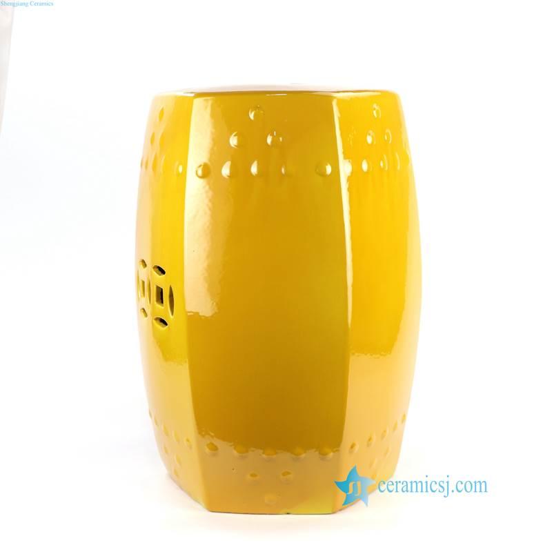 mustard porcelain seat