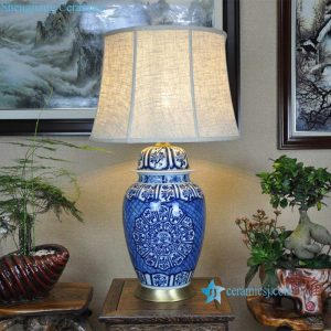 DS-RZFQ29 China style hand painted blue and white ceramic lighting