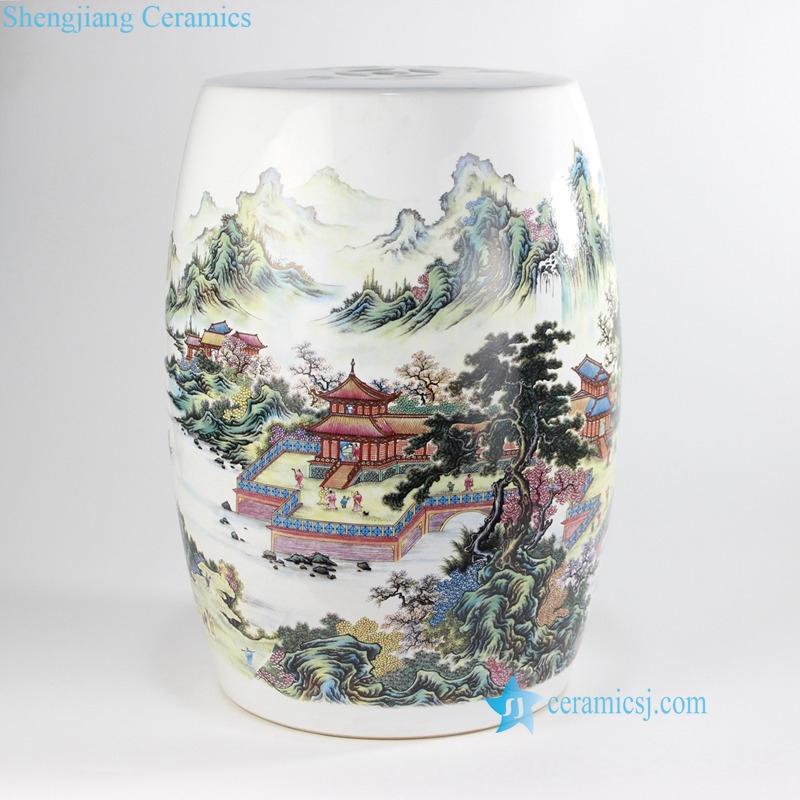 China pavilion ceramic stool