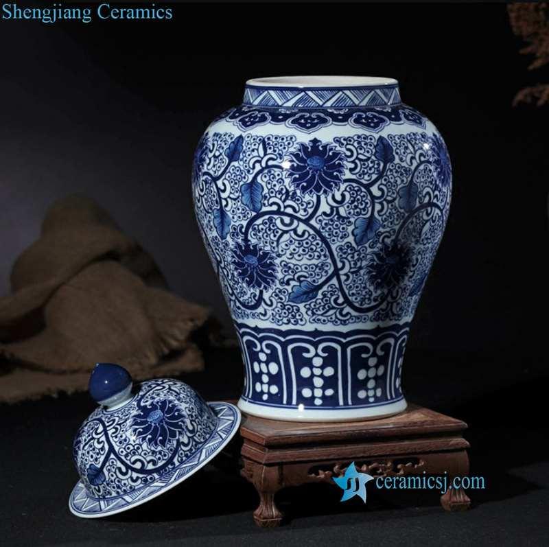 Qianlong emperor style porcelain jar