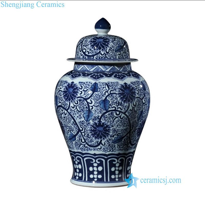 blue ceramic jar