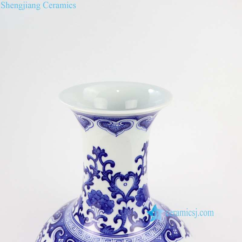 blue and white ceramic vase