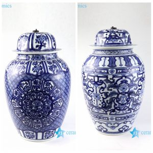 RZFQ28-29 Hand painted high painting skill blue and white collection ceramic jar
