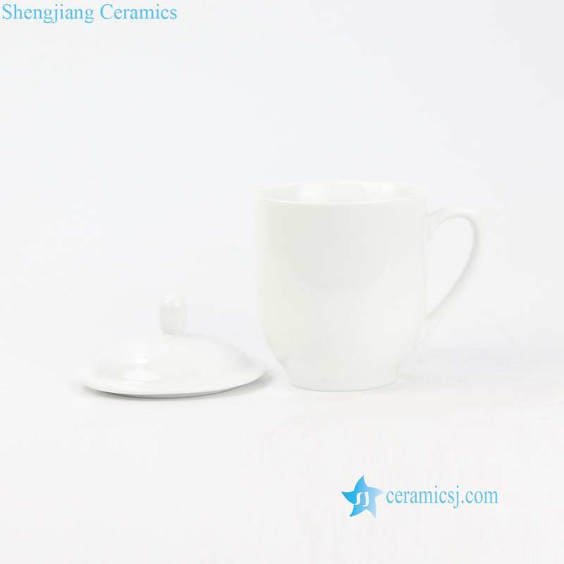 pure white ceramic cup