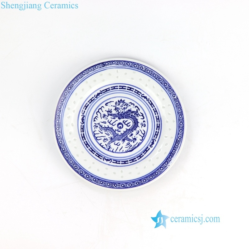 carved rice hole ceramic plate