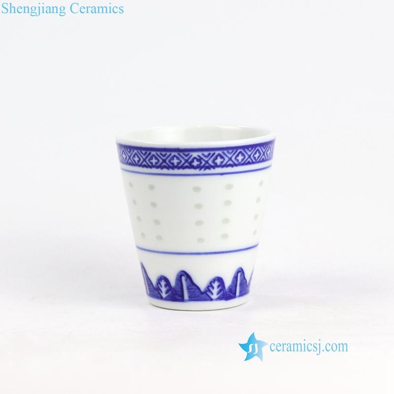 rice hole ceramic cup