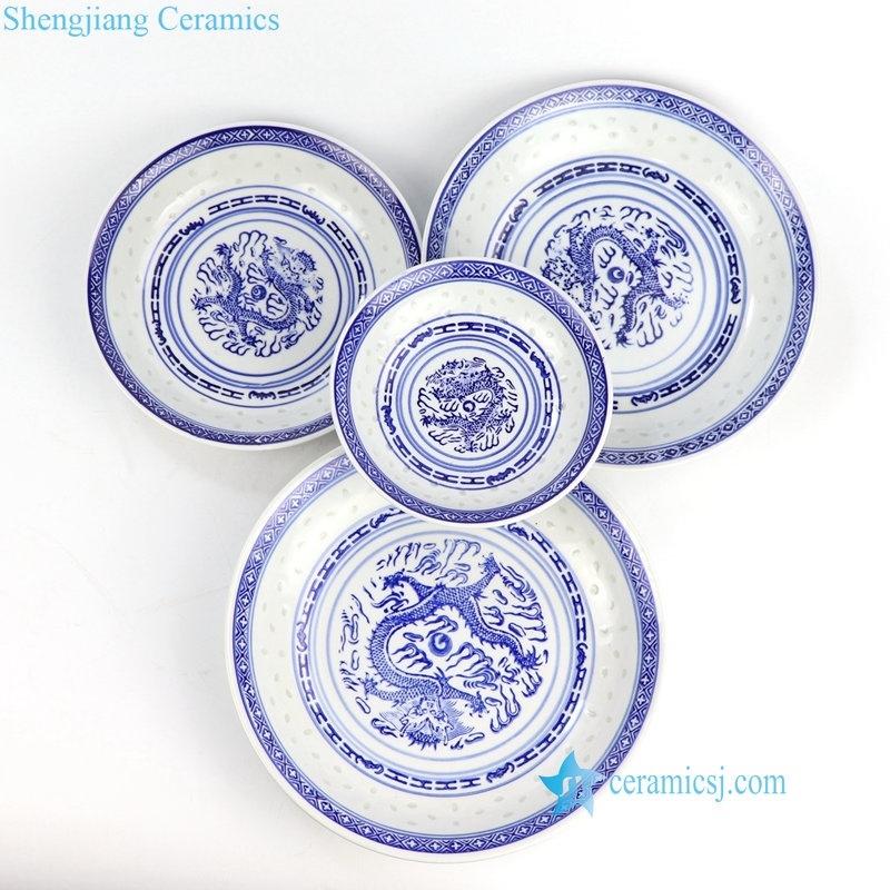 rice hole ceramic plate