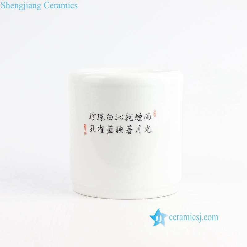 RZNZ01-AB Spring and winter landscape ceramic pen holder