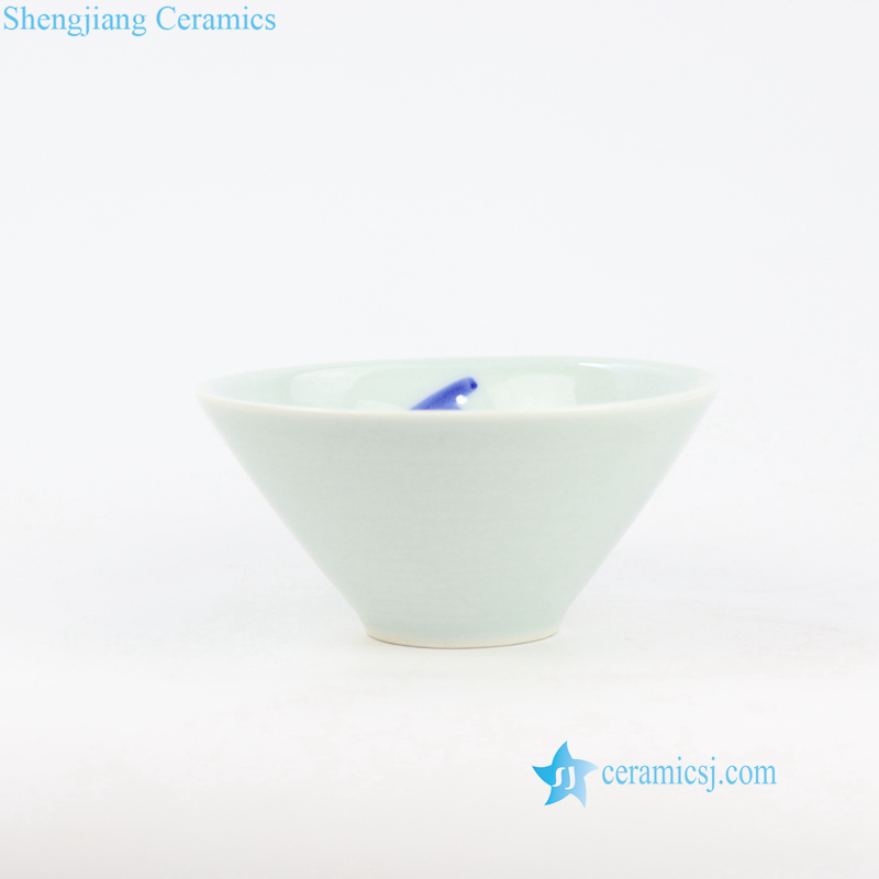 green and blue ceramic bowl