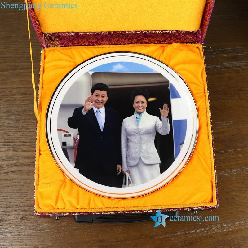 China president Xi and first lady ceramic plate