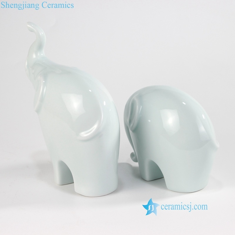 green elephant ceramic figurine