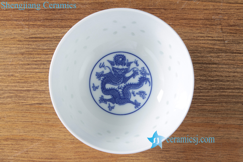 rice pattern ceramic bowl