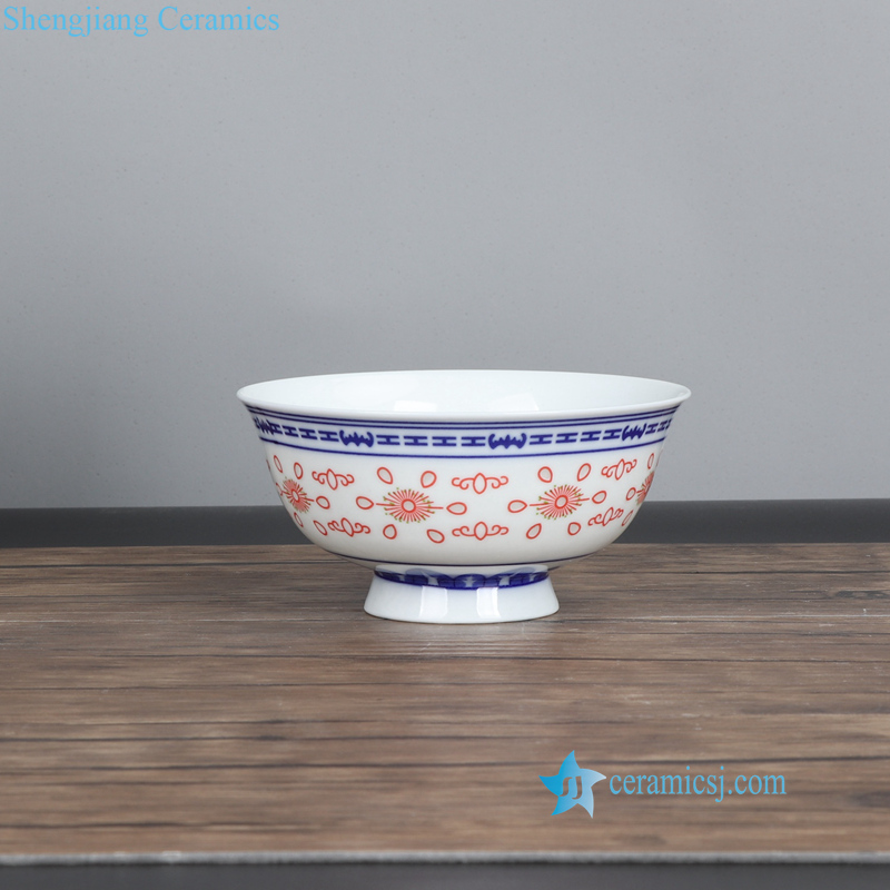red rice pattern ceramic bowl