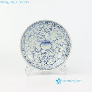 RZIQ09 Hand painted nice ceramic floral plate