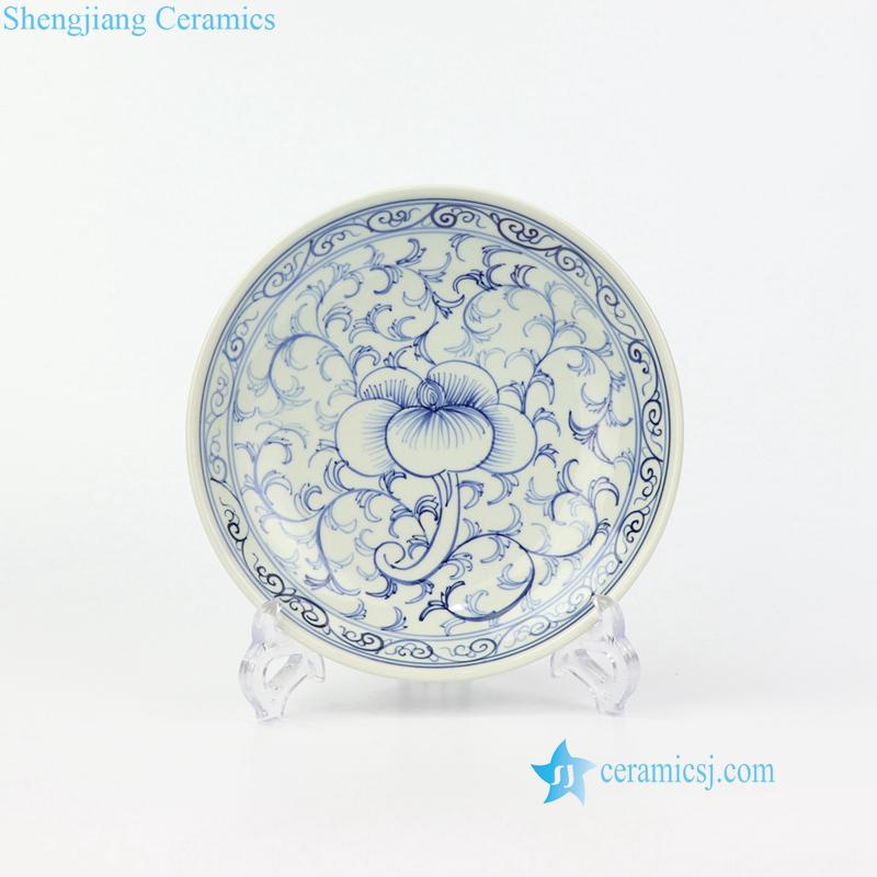 ceramic floral plate
