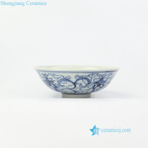 RZIQ13 Blue and white pure hand painted ceramic bowl