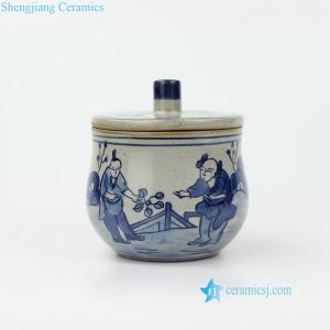 RZIQ16 China ancient farmer life hand painted ceramic jar