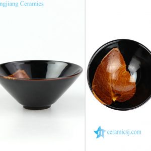 RZOI01-C Jizhou kiln ceramic tea leaf cup