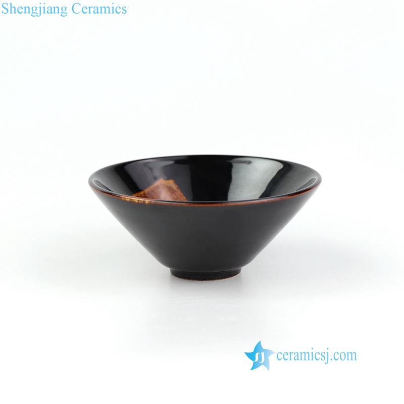 Jizhou kiln ceramic tea leaf cup