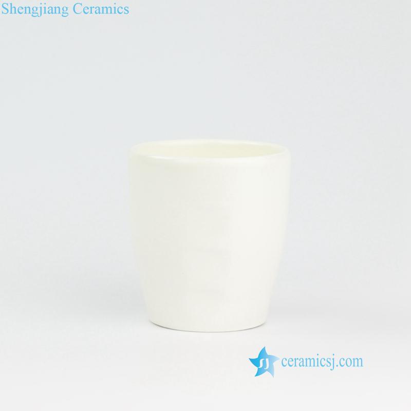 pure white ceramic cup