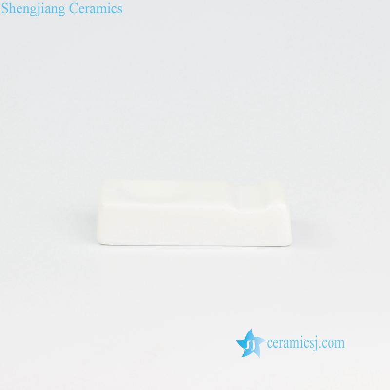 pure white ceramic chopsticks holder