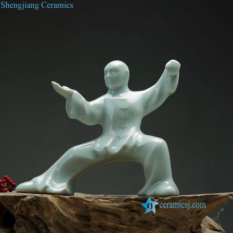 Kongfu ceramic statue
