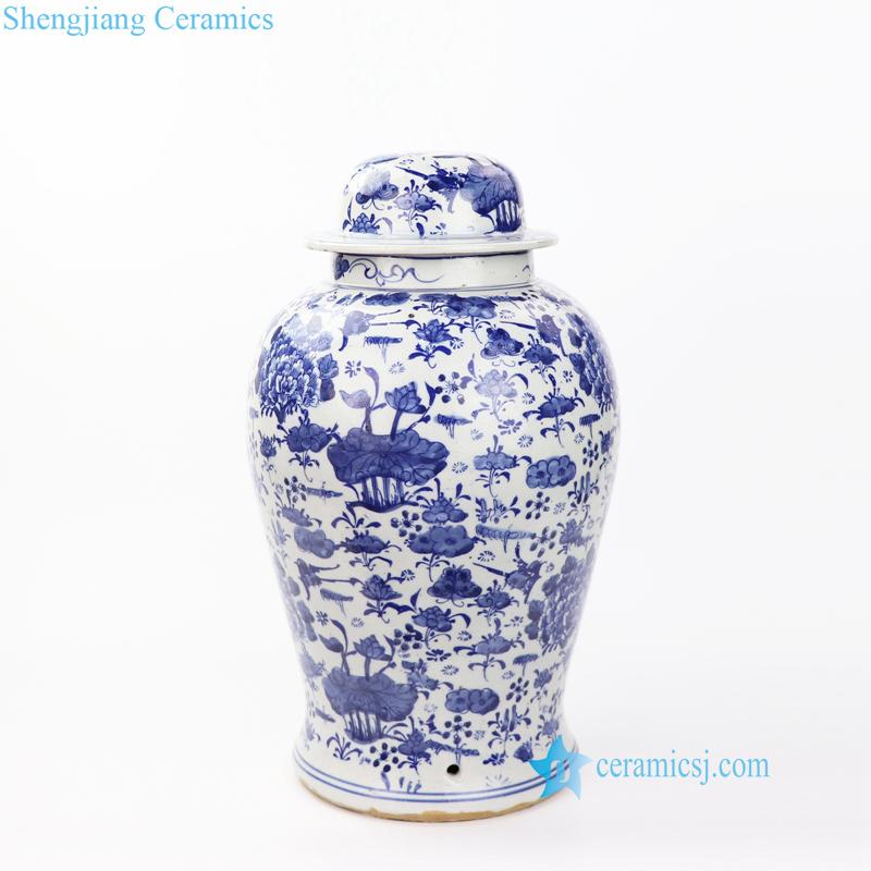 lotus porcelain jar body lamp