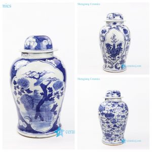 DS-RZKT017-AB Hand painted blue and white ceramic table lamp body