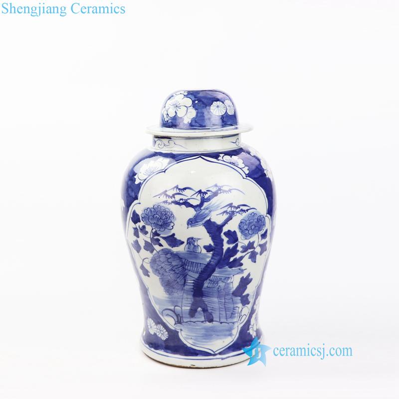 bird floral porcelain lamp base