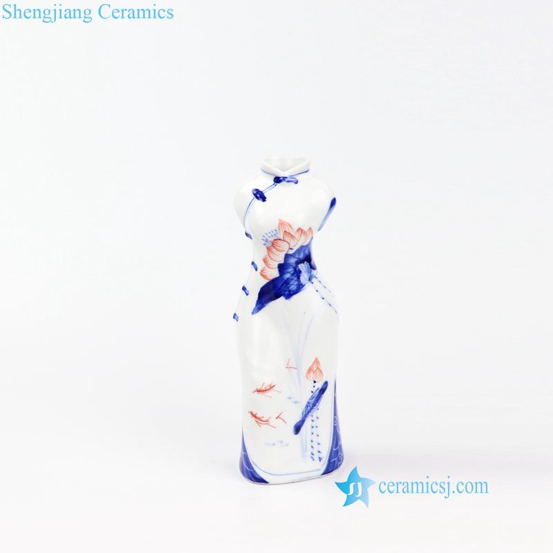 cheongsam design ceramic vase