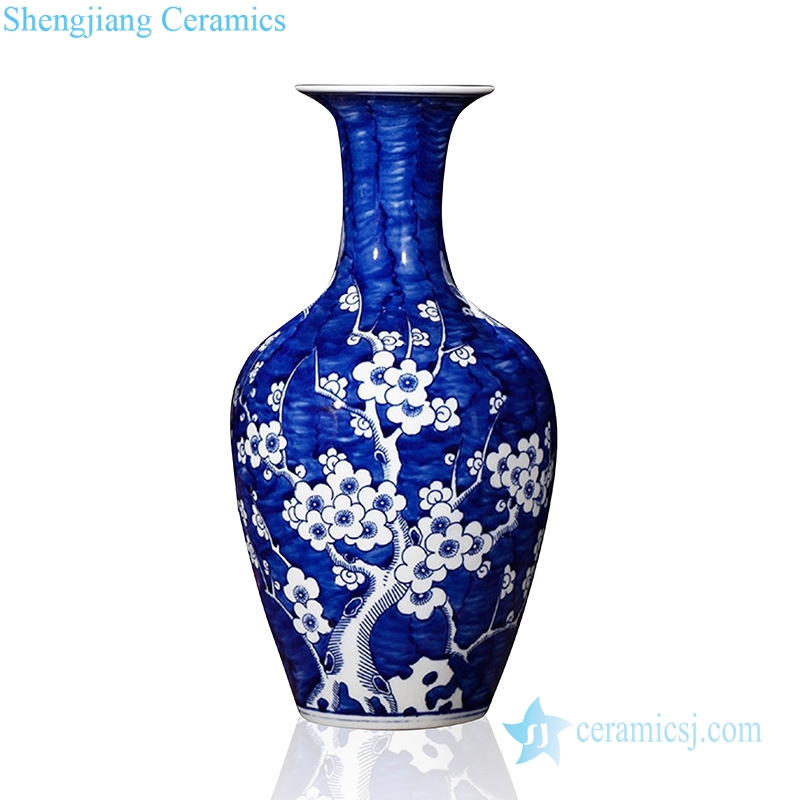 china ancient style plum blossom pattern ceramic vase in Jingdezhen