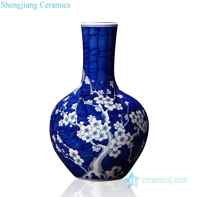 shengjiang yunyuchun plum blossom pattern ceramic vase in Jingdezhen