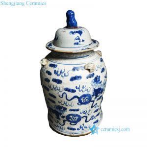 RZEY12-G Hand painted kylin pattern old style ceramic jar