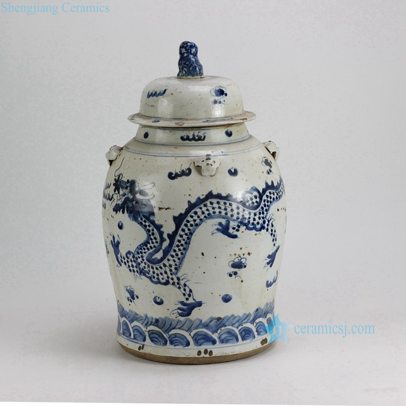 DRAGON CERAMIC JAR