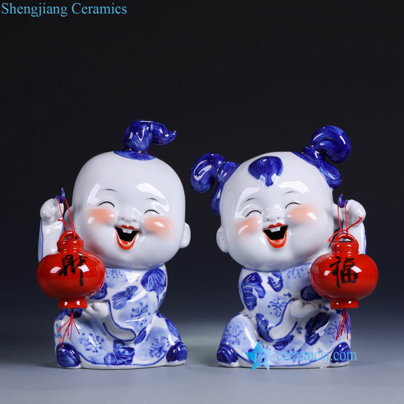 joyous ceramic kid figurine