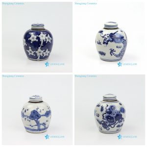 RZKT10-AD Antique style hand draws mini ceramic jar