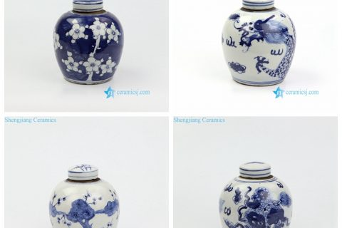 RZKT10-AD Antique style hand draws mini ceramic jar