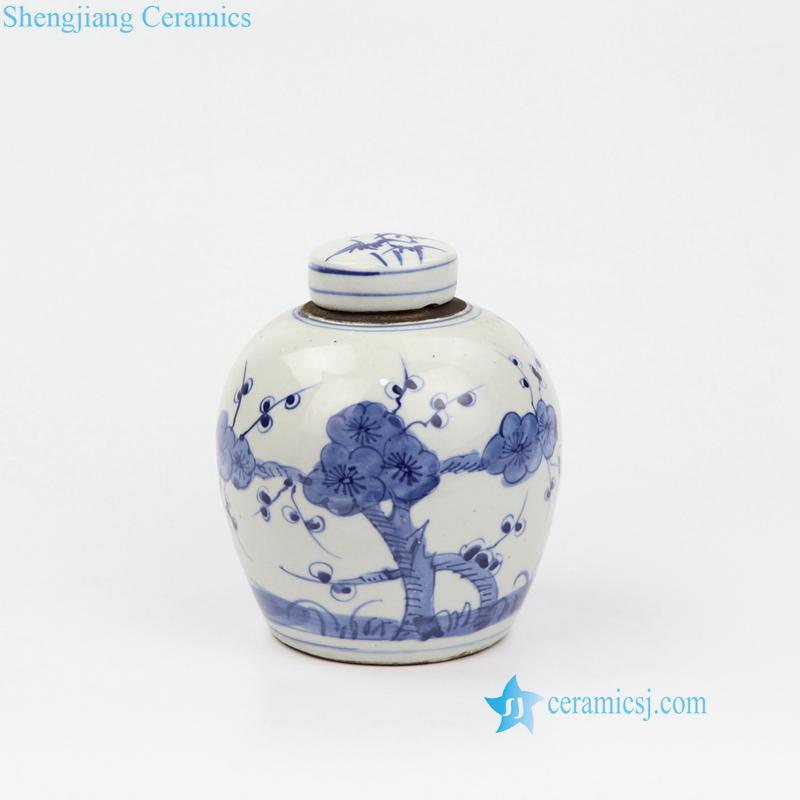 wintersweet porcelain jar
