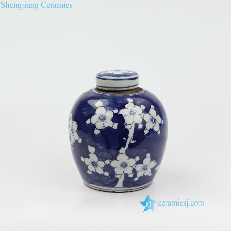 winter sweet porcelain mini jar