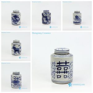 RZKT11-AF Antique style mini cute sundry porcelain box