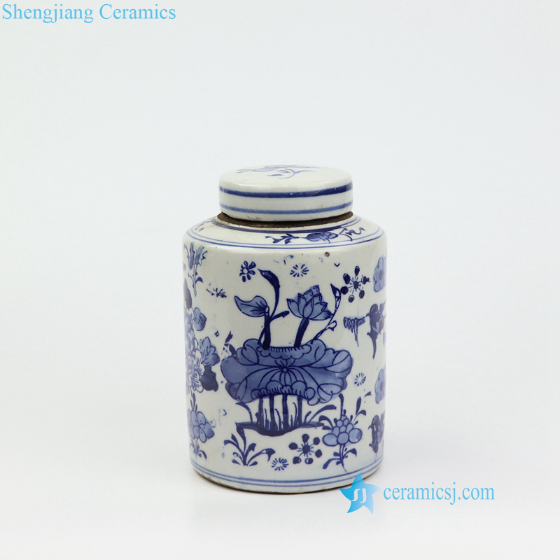 lotus small porcelain jar