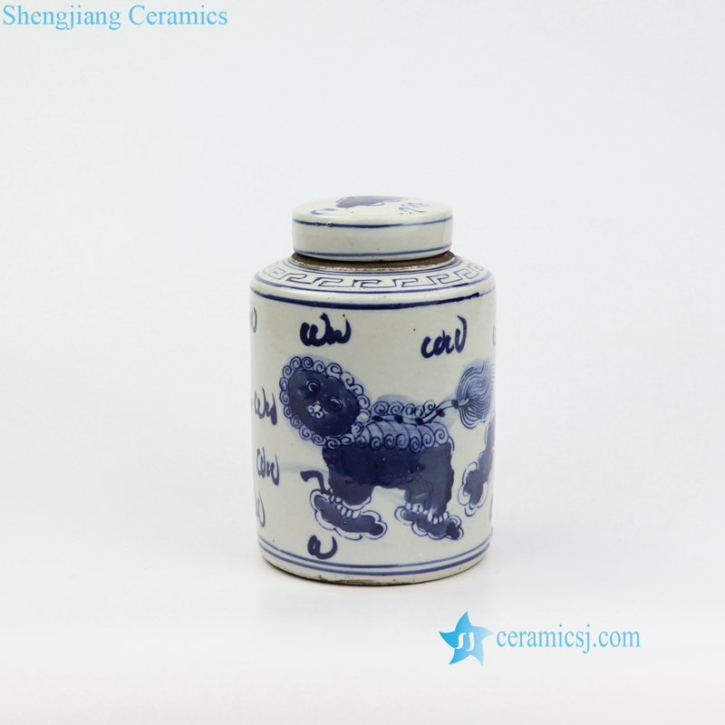 lion cute porcelain box
