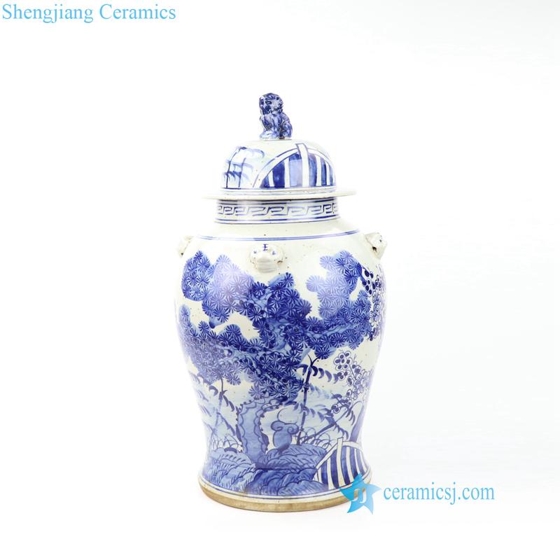 pine porcelain jar