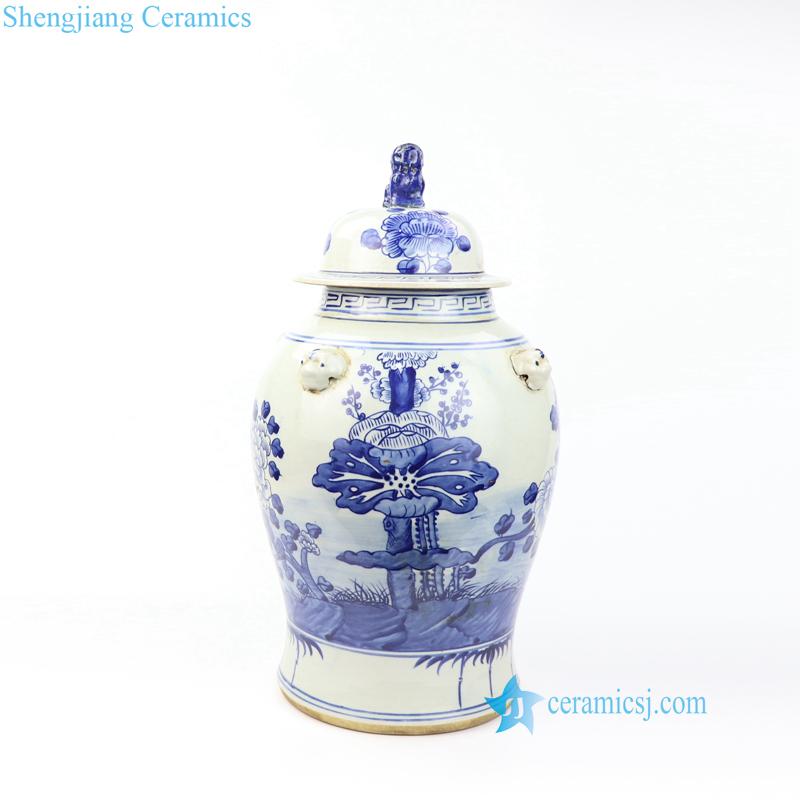 lotus porcelain jar