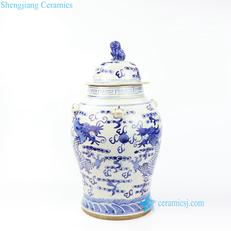 dragon porcelain jar
