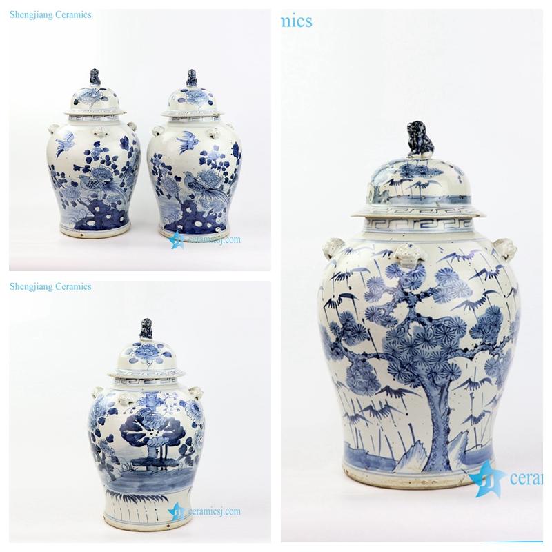 lion lid ceramic jar