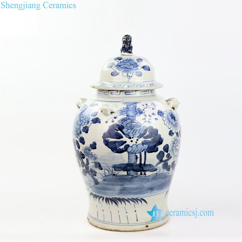 lotus ceramic jar